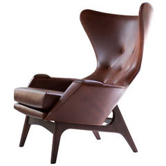 Large Wing Chair for Craft Associates, in the Style of Adrian Pearsall