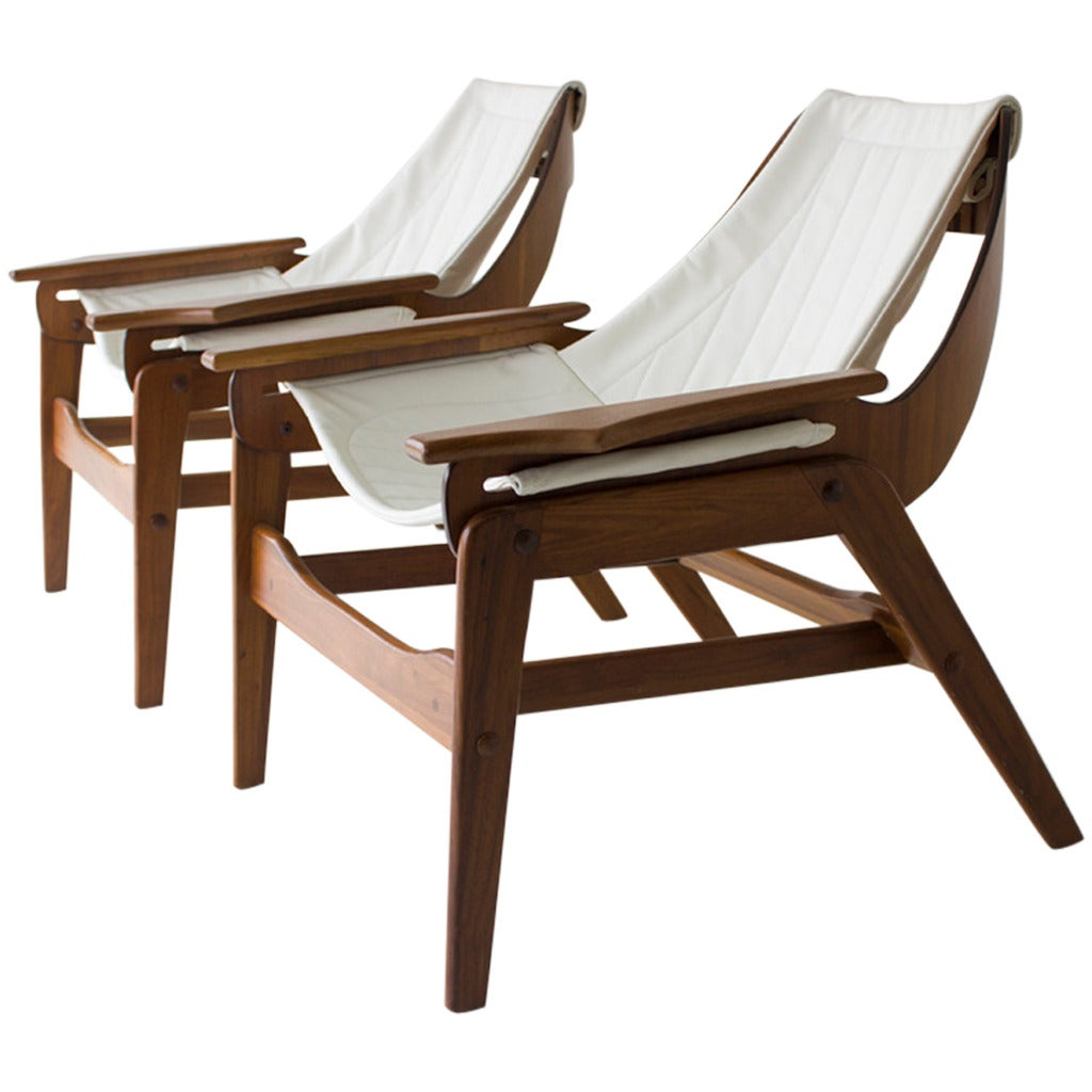 Jerry Johnson Sling Lounge Chairs At 1stdibs
