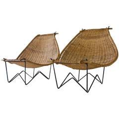 Duyan Rattan Lounge Chairs by John Risley