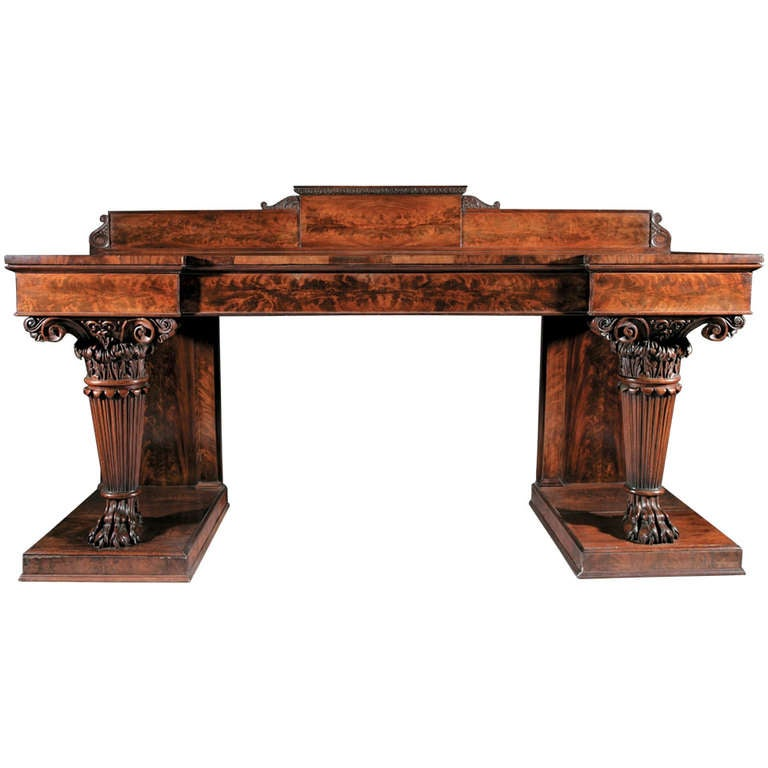 An Important Late Regency Mahogany Side Table
