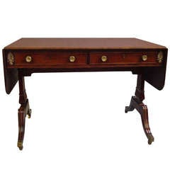 A Good Regency Mahogany and Brass Mounted Sofa Table