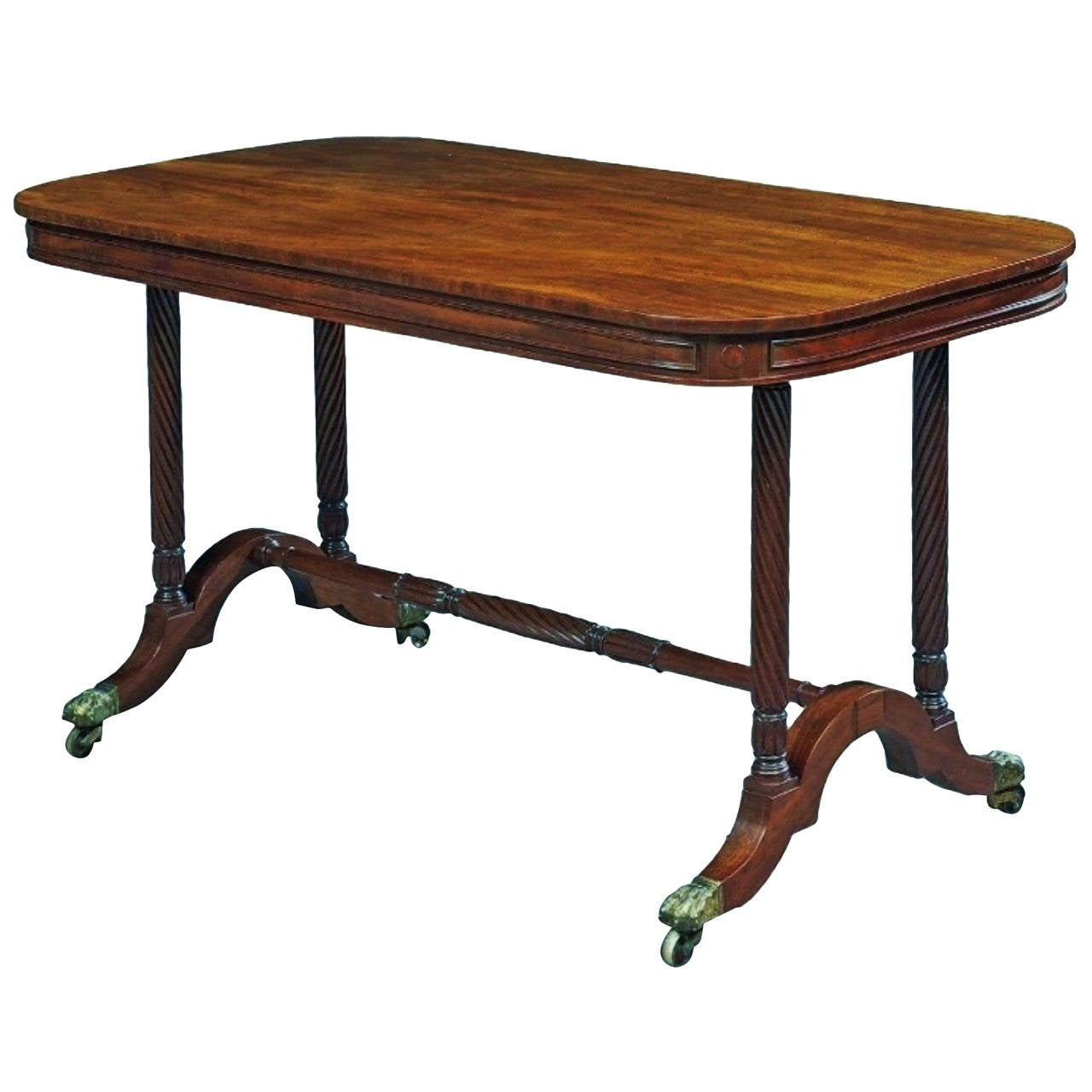 Good Quality Regency Mahogany Centre or Library Table