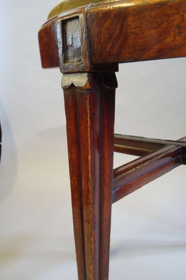 A Pair Of C19th French Beech Stools At 1stdibs
