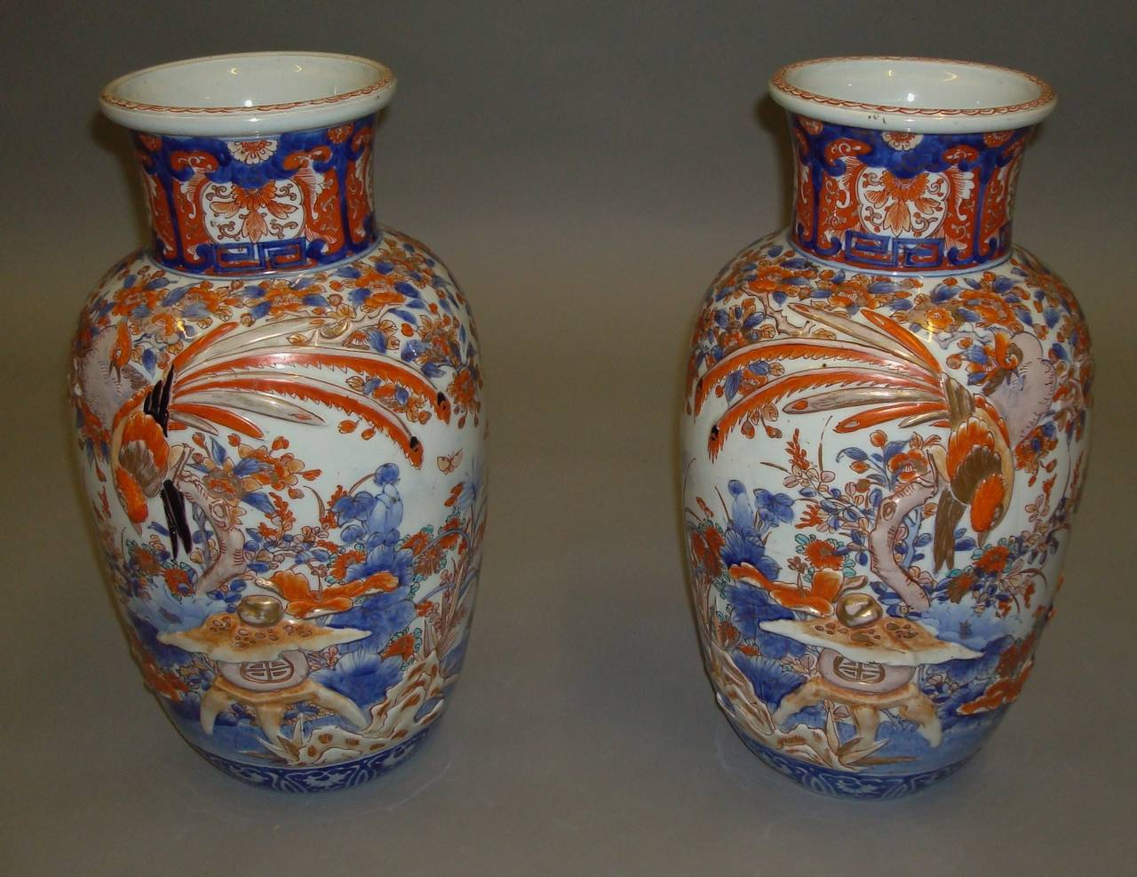 Large 19th century pair of imari vases at 1stdibs a large 19th century pair of imari vases of baluster form with slightly flared necks reviewsmspy