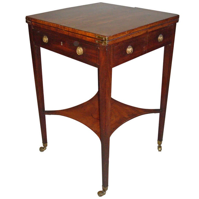 A Good George III Mahogany Patience Table