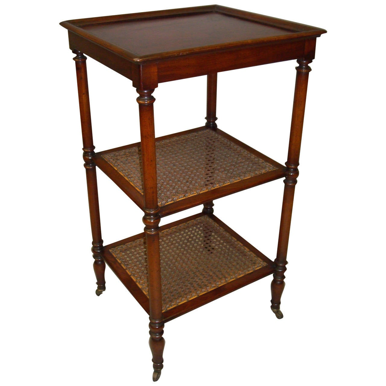 regency mahogany three tier tag re for sale at 1stdibs. Black Bedroom Furniture Sets. Home Design Ideas