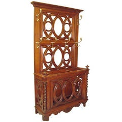 Stylish 19th Century Oak Hall Stand