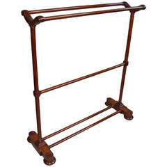 A Good Large Regency Mahogany Clothes Rail / Towel Rail