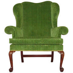 George II Mahogany Wing or Porters Chair