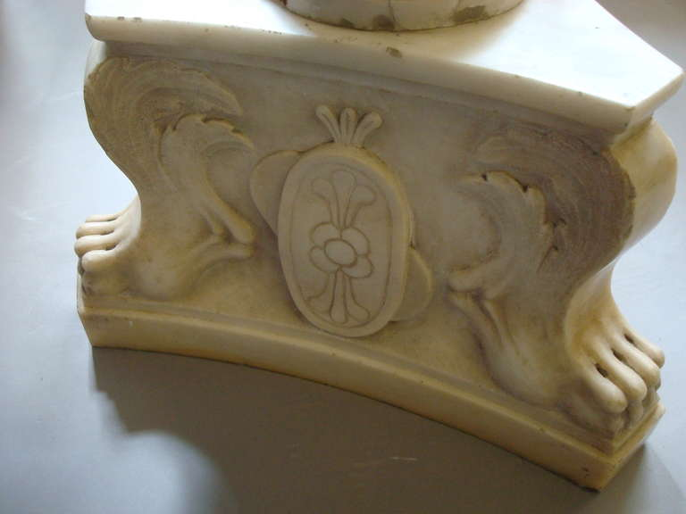Impressive Early 19th Century Carved Marble Tazza on Pedestal For Sale 5