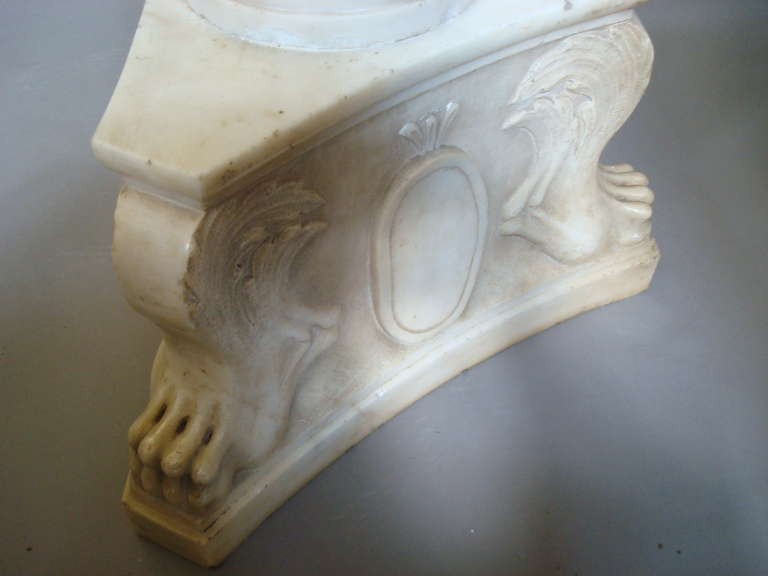 Impressive Early 19th Century Carved Marble Tazza on Pedestal For Sale 4