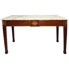 A Good George III Irish Mahogany Serving/Side Table
