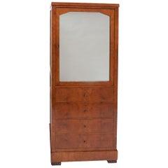 19th Century North European Amboyna Cabinet / Bookcase
