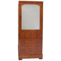 19th Century North European Amboyna Cabinet / Bookcase