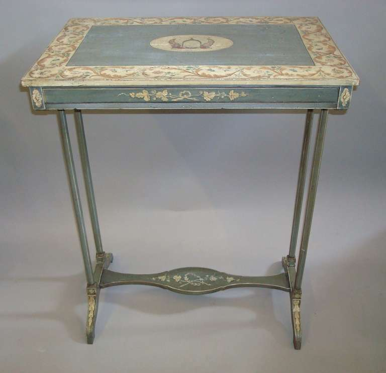 fine regency painted occasional or end table at 1stdibs