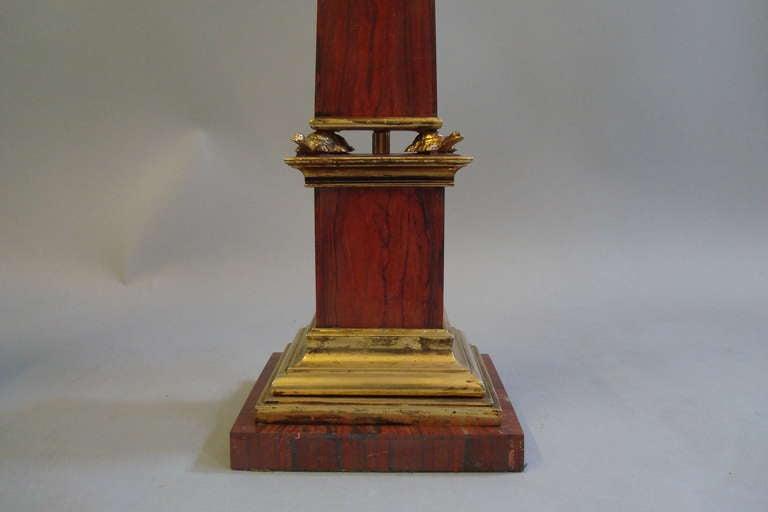 Pair Early C20th Sicilian Jasper Marble Obelisks 6