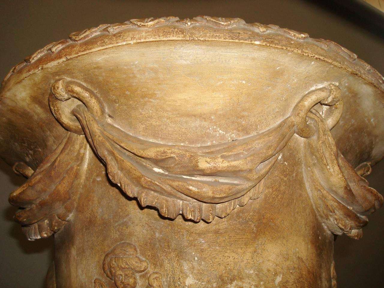 Regency Pair of Neoclassical Plaster Urns 10