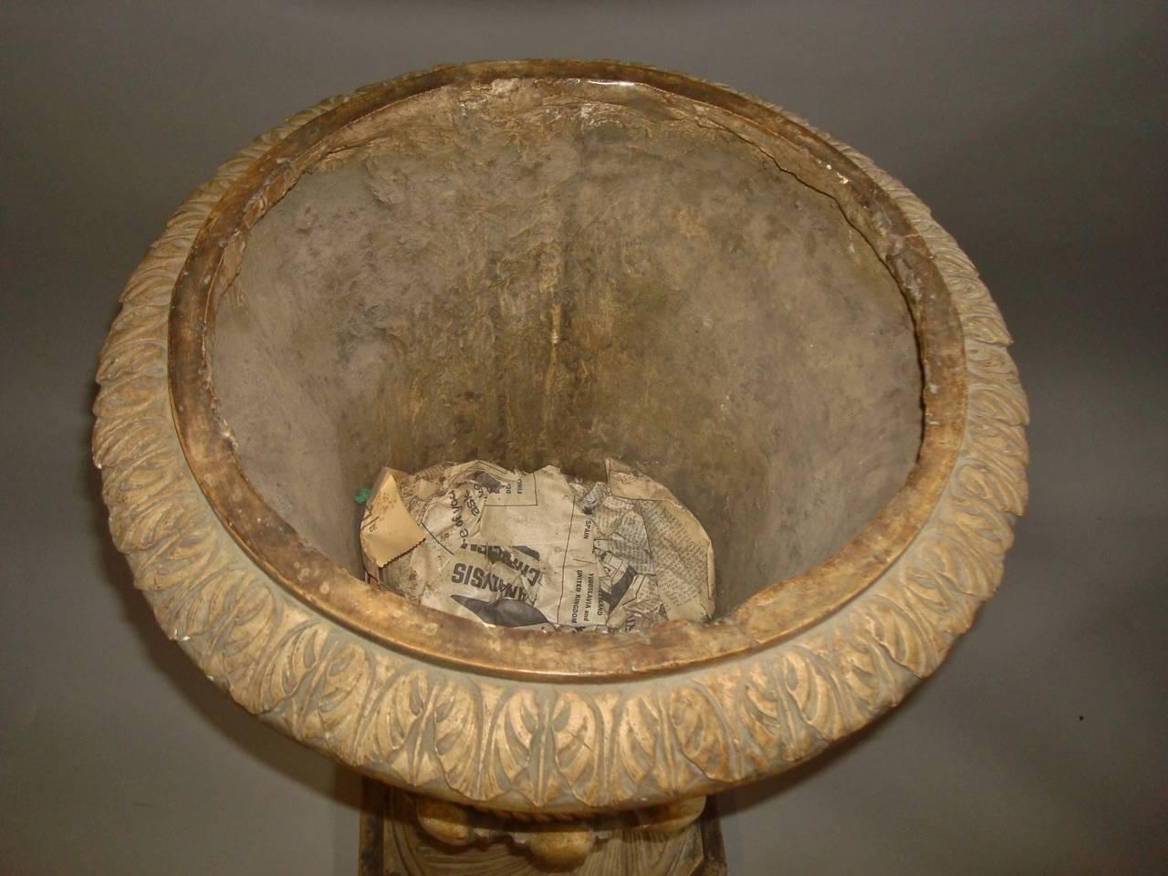 Regency Pair of Neoclassical Plaster Urns 9