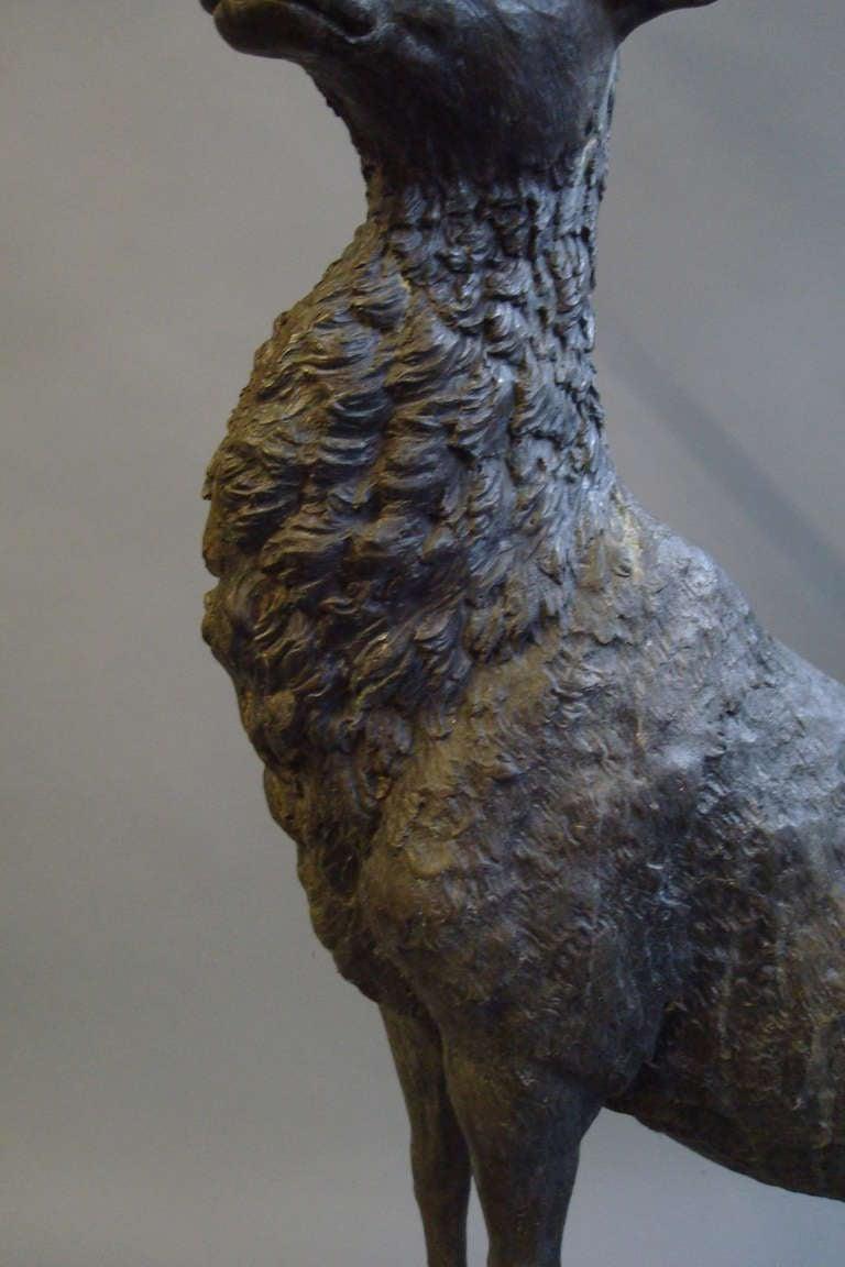 Impressive 'Life Size' 19th Century Bronze Stag 5