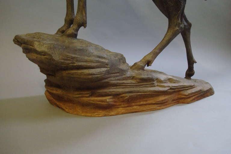 Impressive 'Life Size' 19th Century Bronze Stag 7