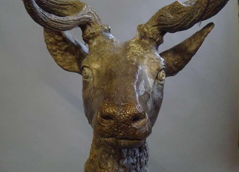 Impressive 'Life Size' 19th Century Bronze Stag 8