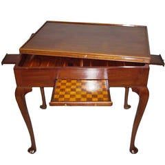 Georgian Mahogany Irish Games Table