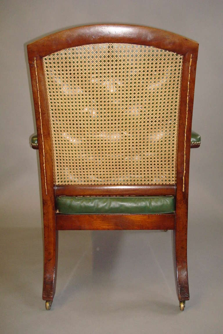 Good George Mahogany And Leather Gentleman S Library Chair