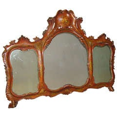 19th Century Venetian Decorated Wall Mirror