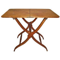Good Quality Regency Mahogany Folding Coaching Table