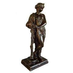 Regency 'Bronzed' Sculpture of a Classical Figure