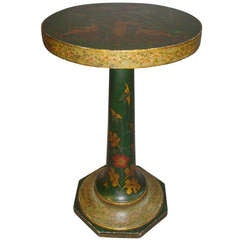 Mid-19th Century French Green Lacquered Occasional Table