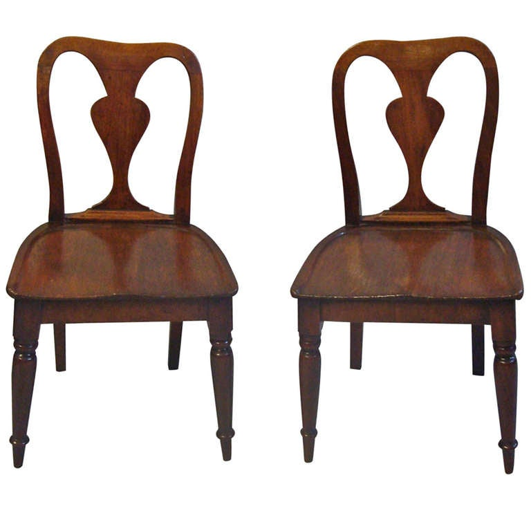 Rare Pair of George III Mahogany Child's Chairs