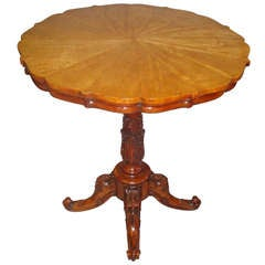 Good Quality George IV Satinwood Center Table