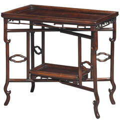 19th Century Chinese Hongmu Tray Table
