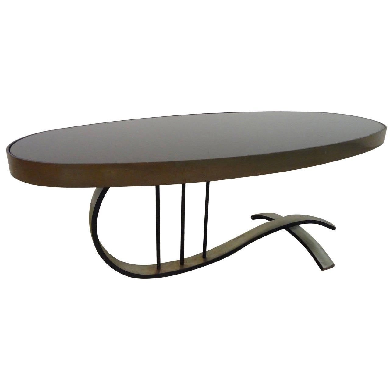 Sophisticated French Cantilevered Cocktail Table At 1stdibs