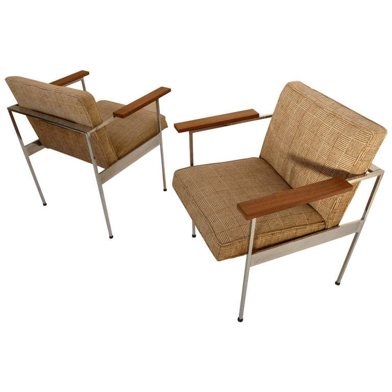 Pair Of Paddle Arm Chairs By George Nelson For Herman Miller 1
