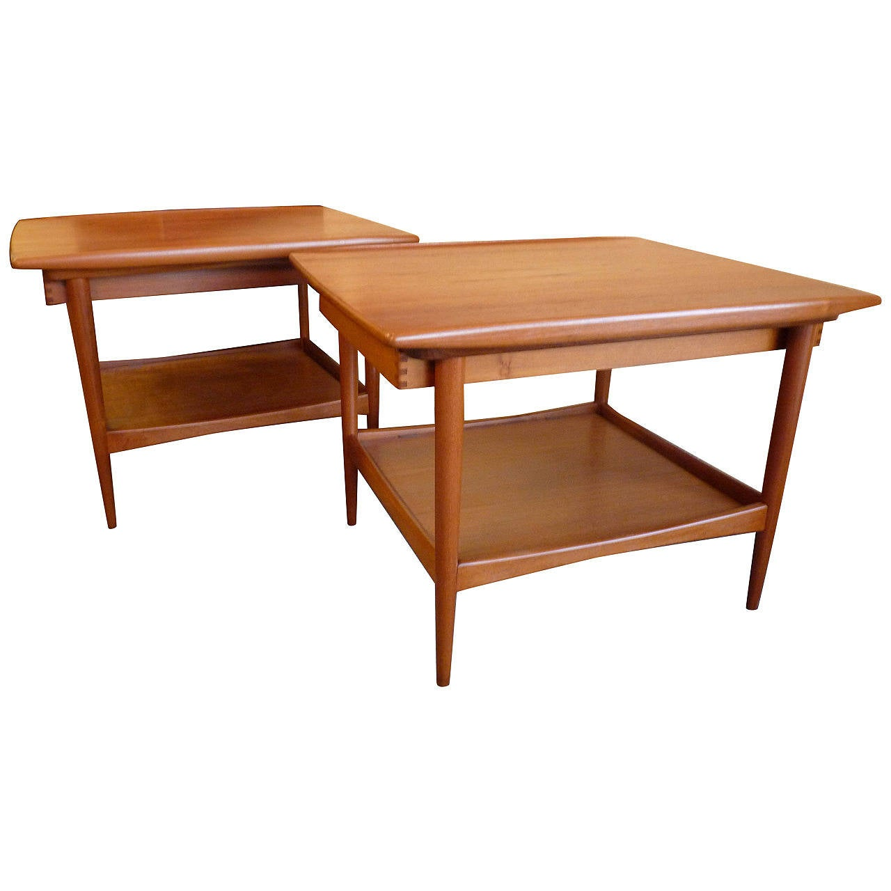 Pair of vintage danish rosewood and brushed steel side cabinets ref - Pair Of Danish Modern Side Tables By Moreddi 1