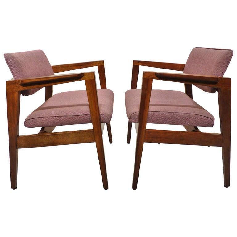 Ten Pairs Of Walnut Gunlocke Occasional Chairs At 1stdibs