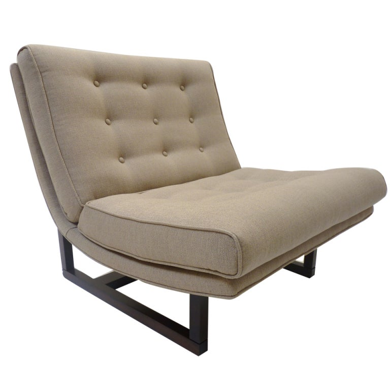 Milo Baughman Tufted Scoop Lounge Chair at 1stdibs