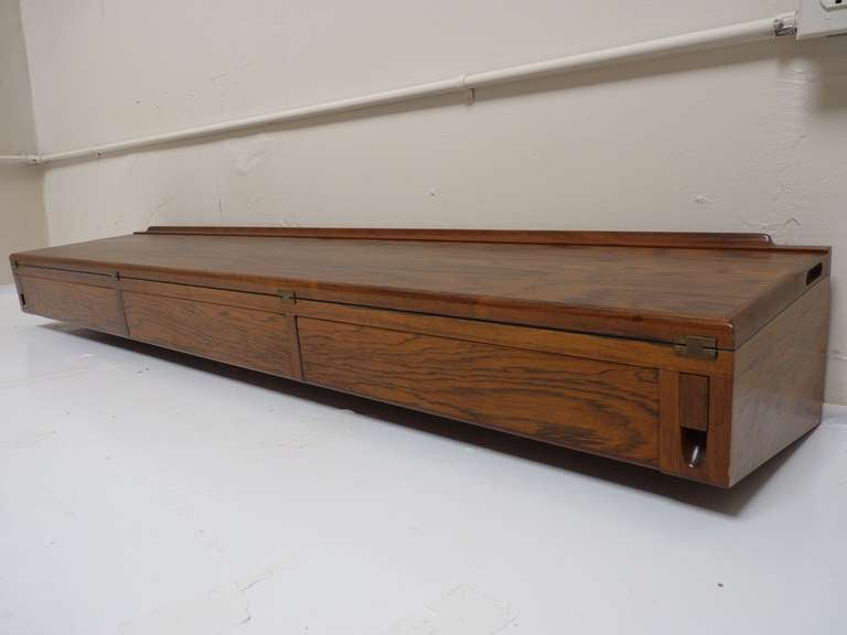 wall mounted desk console in rosewood by arne 2
