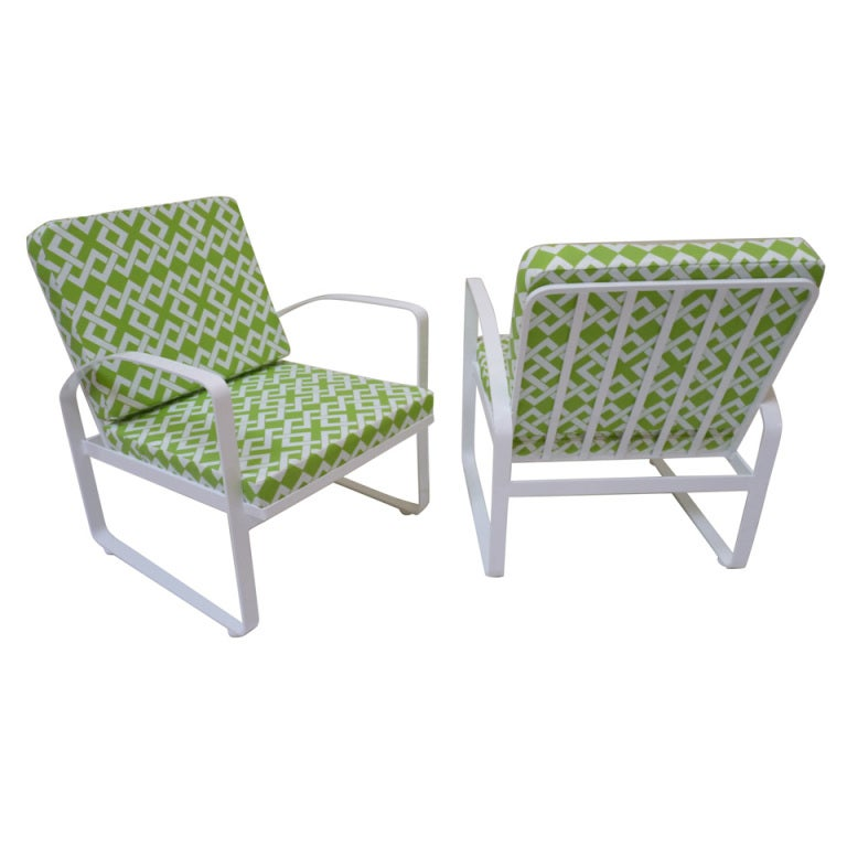 Aluminum outdoor lounge chairs via aluminum wicker for Allen roth tenbrook extruded aluminum patio chaise lounge
