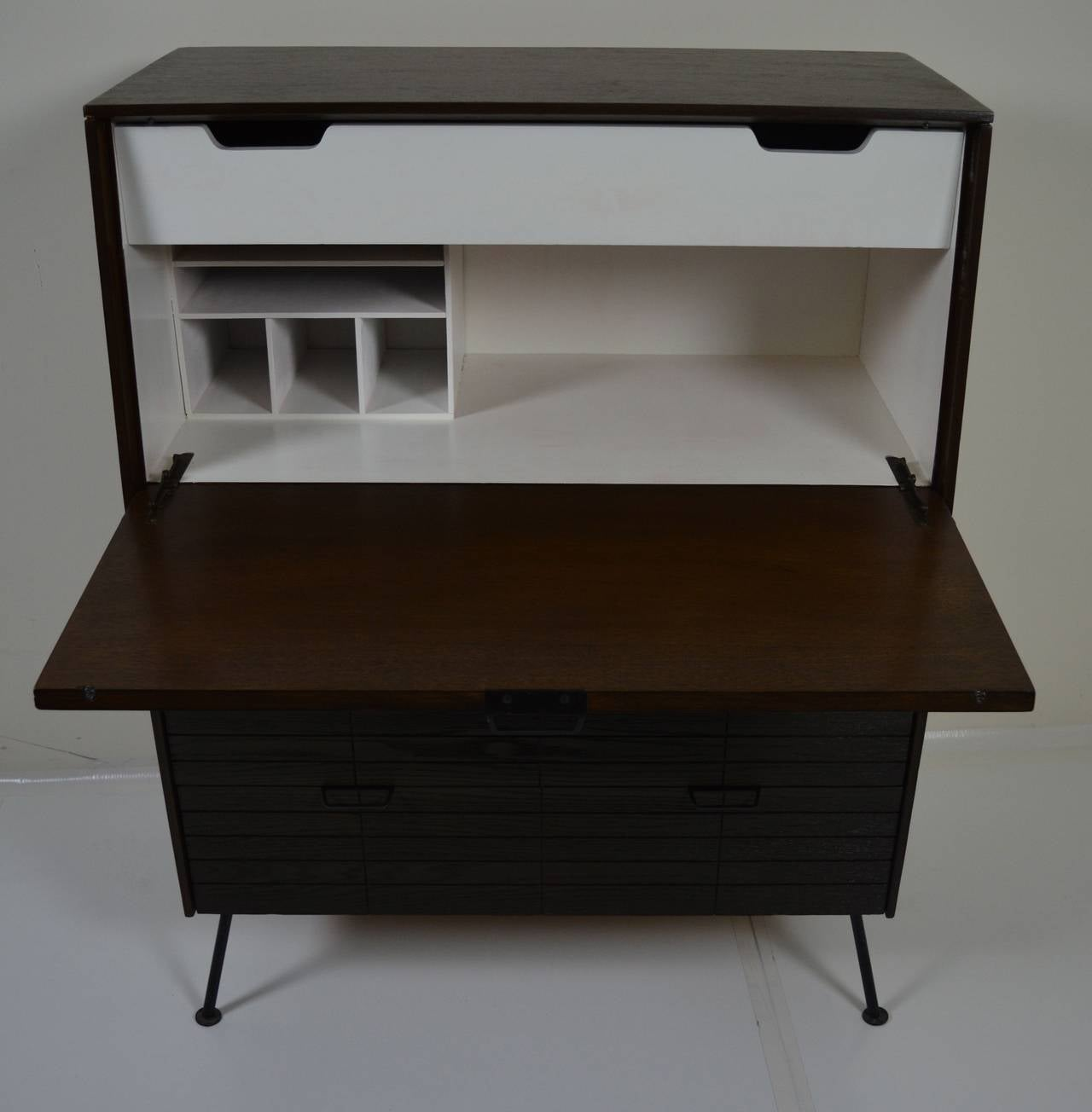 drop front desk bureau by raymond loewy for sale at 1stdibs