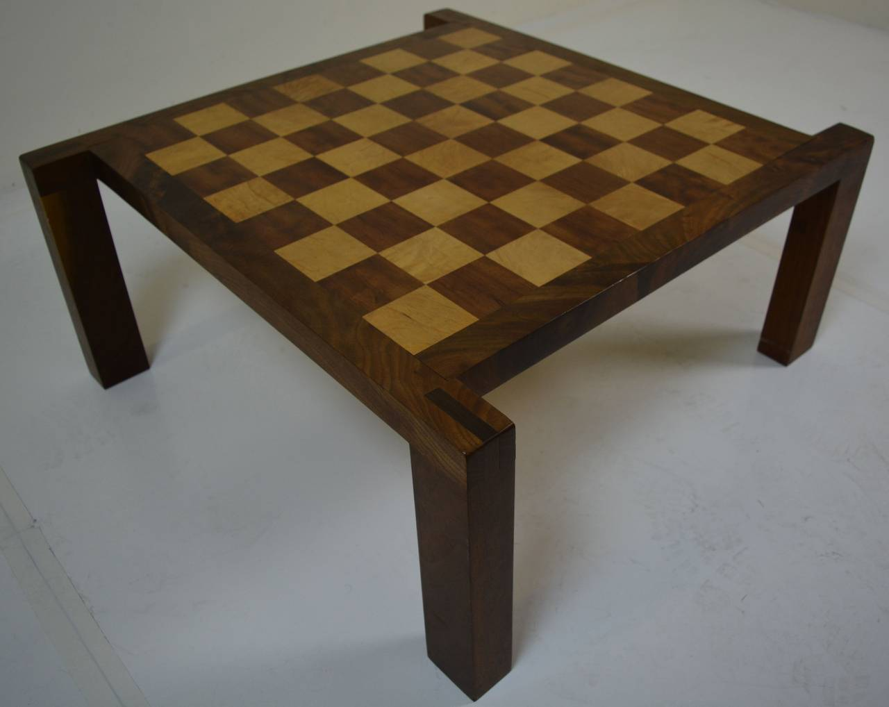California Craft Cocktail Table And Chess Checker Board At 1stdibs