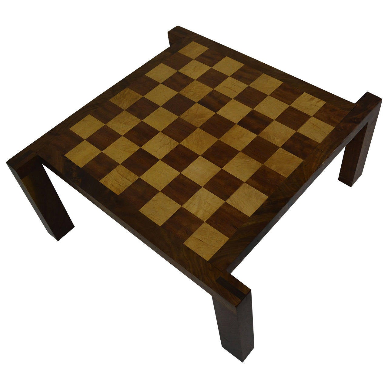 california craft cocktail table and chess checker board