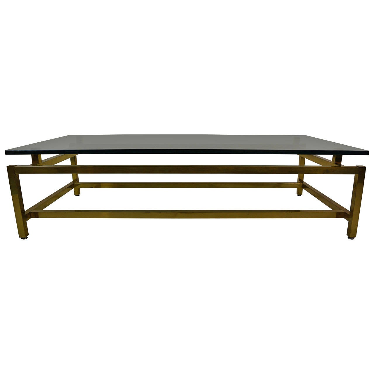 Solid brass architectural cocktail table at 1stdibs for Architectural coffee table