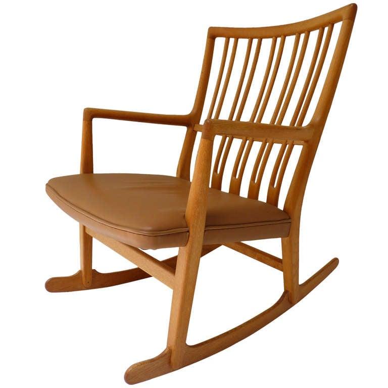 hans wegner ml-33 rocking chair c.1942 at 1stdibs