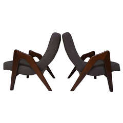 Pair of Lounge Chairs by Adrian Pearsall for Craft Associates