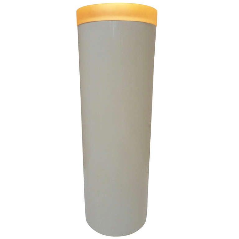 Lacquered Fiberglass Cylinder Pedestal