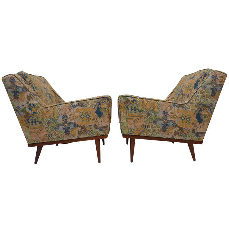Pair Of Milo Baughman Club Chairs For Thayer Coggin 1