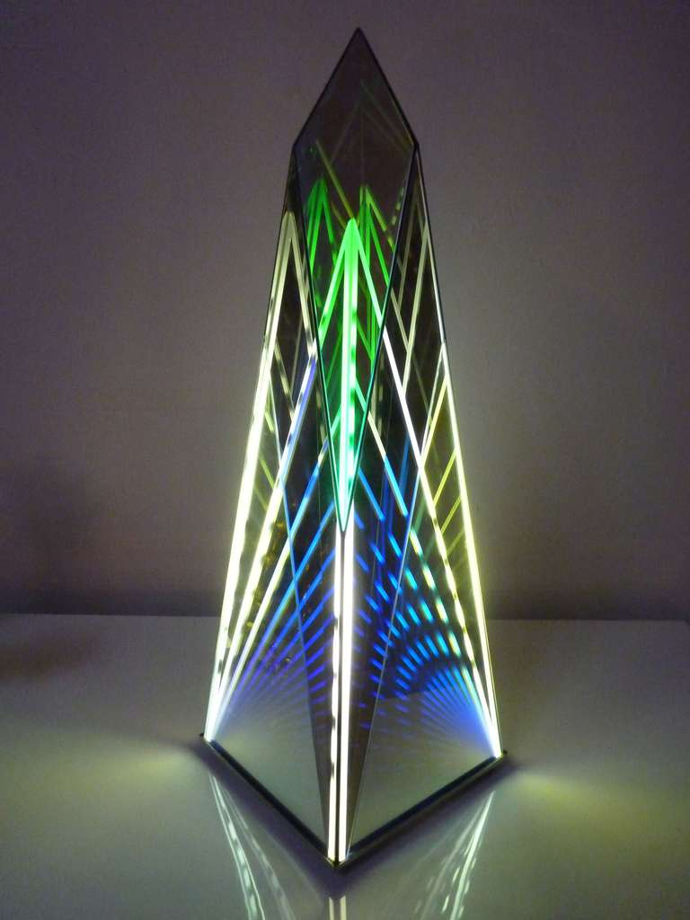 Inner Pyramid Dichroic Light Sculpture By Ray Howlett At 1stdibs